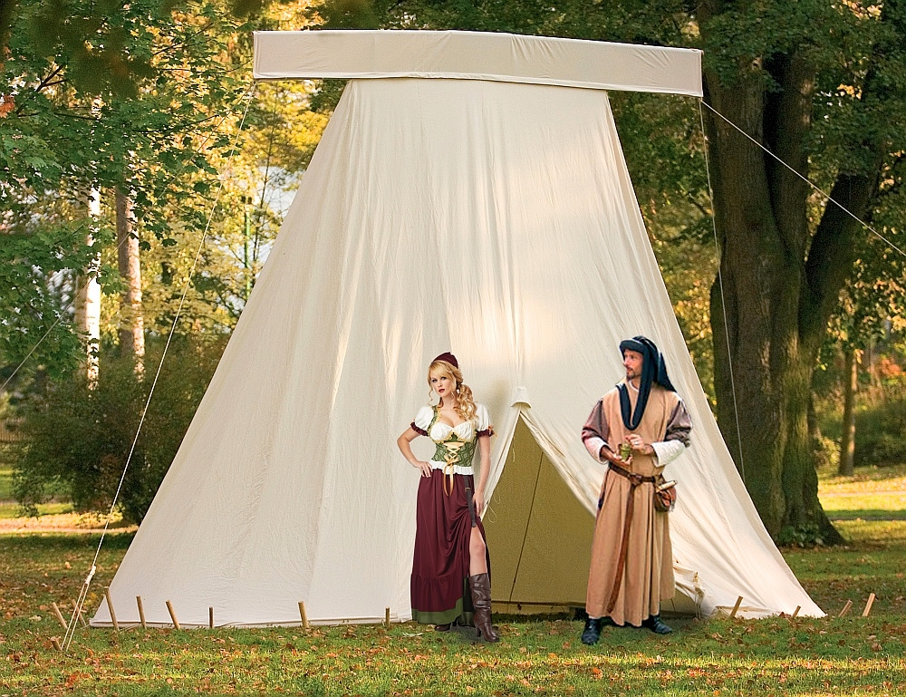 Early medieval ridge tent & Geteld | FamWest natural tents